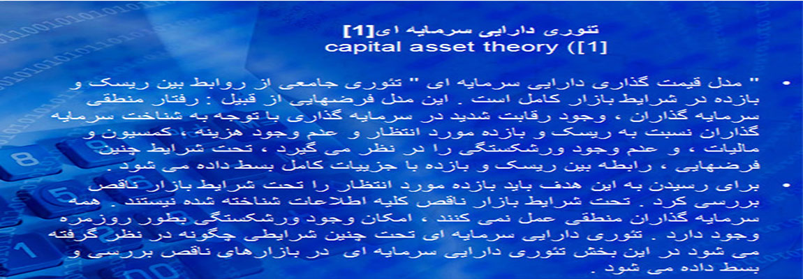 تئوری دارایی سرمایه ای