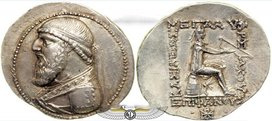 سکه دوره اشکانیان ,کتاب سکه شناسی,سکه های قدیمی