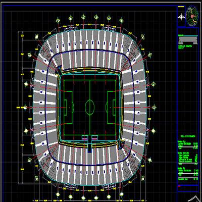 پروژه طراحی فنی استادیوم ورزشی